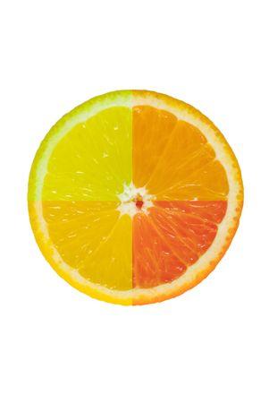 4 citrus 1 slice Stock Photo