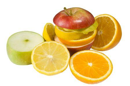 Sliced Fruit Stock Photo