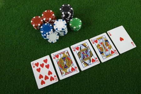 Poker chips and cards  Editorial