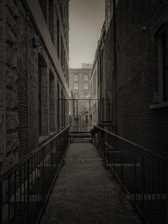dark alley: dark alley Stock Photo