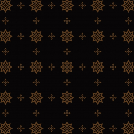 Thai traditional painting wallpaper in black and copper Illustration