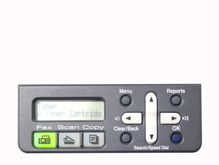 multi function centre board control on the white background