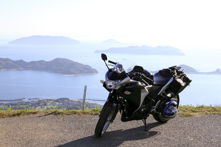 motorcycle great mountain views
