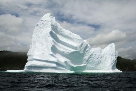 An iceberg in Trinity Bay, Newfoundland, Canada.