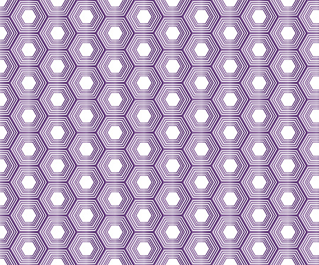 Amethyst Original Honeycomb Vector Seamless Pattern. Gem Imitation Hexagon Repeating Ornament. Beautiful Gradient Polygon Illustration Ilustrace