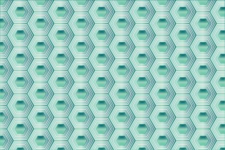 Turquoise Hexagon Seamless Vector Pattern. Jade precious stones polygon illustration. Original honeycomb ornament