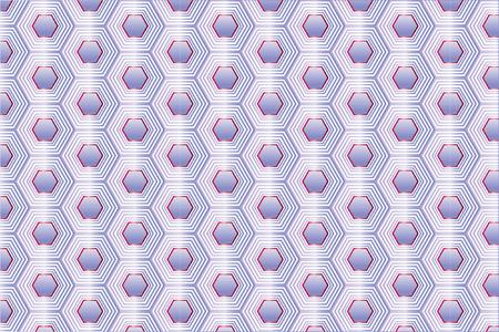 Amethyst Original Honeycomb Vector Seamless Pattern. Gem Imitation Hexagon Repeating Ornament. Beautiful Gradient Polygon Illustration Ilustração