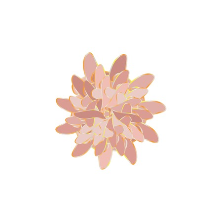 Fantasy Geometric Flower Vector Illustration. Original Concept for Your Design. Magic Pastel Colored Flower.