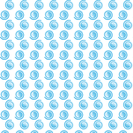 Swirl Original Blue and White Pattern. Nautilus Symbols Vector Illustration. Cute Scroll Texture.. Illustration