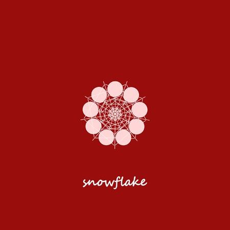 Snowflake Geometric Symbol Vector Illustration. Stylish   Emblem Design.