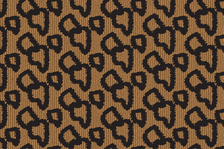 Vector seamless pattern with leopard fur texture. Repeating leopard fur background for textile design, wrapping paper, wallpaper. Funky animal print