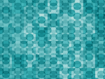New circles geometric background. Trendy blue colors spherical pattern. Completely new abstract circles texture. Pop-art mosaic ornament.