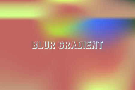 Colorful gradient mesh background. Abstract blurred smooth image. Smooth blend banner template. Iridescent holographic wallpaper, frame, banner. Funky gradient texture vector illustration Vettoriali