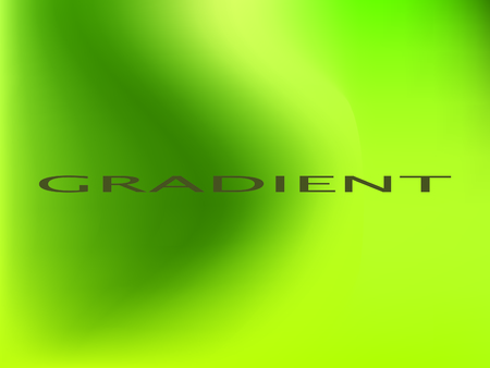 Light green colors smooth blend banner template. Iridescent holographic eco colors wallpaper, frame, banner. Funky gradient texture and lettering. Green and lime colors bright gradient background Illustration