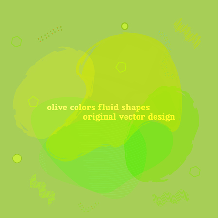 Lime, citron, green fluid graphic elements. Dynamic liquid forms and lines. Gradient banner with flowing liquid shape. Organic, eco concept template for logo, presentation. Original bio liquid shapes