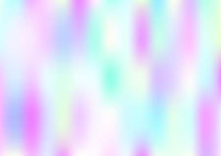 Funky Hologram Gradient Vector Background.Blurred Rainbow Colors Mesh Texture.Fairy Tale Magic Vector Design. Blur Pinky Turquoise Violet Yellow Shiny Gradient. Holographic Fluid Stains Vector Design