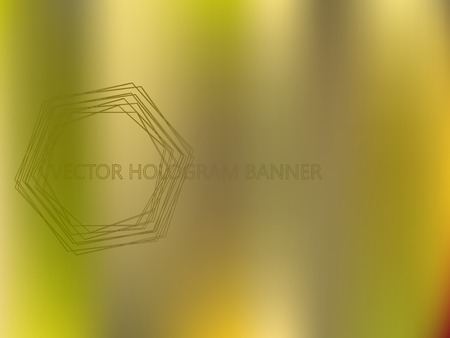 Bronze Colors Gradient Banner Template. Mesh Colorful Vector Background. Shiny Foil Iridescent Texture. Perfect for Covers, Wallpapers, Presentations. Bright Colors Blurred Gradient Backdrop. Ilustração