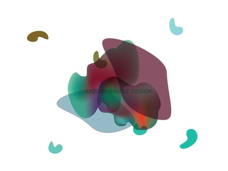 Dynamic future forms of life backdrop. Gradient liquid shapes logo, cover, presentation design. Fluid transparent another forms of life vector illustration. Ilustração