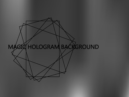 Shiny foil paper. Holographic Silver Vector Background. Gray Foil Texture. Glitch Hologram. Blurred metallic paper. Cover to web design. Abstract monochrome gradient. Иллюстрация