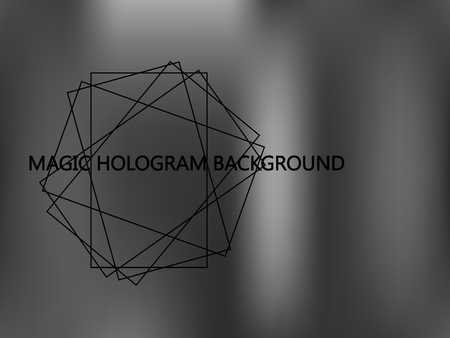 Shiny foil paper. Holographic Silver Vector Background. Gray Foil Texture. Glitch Hologram. Blurred metallic paper. Cover to web design. Abstract monochrome gradient. Ilustração