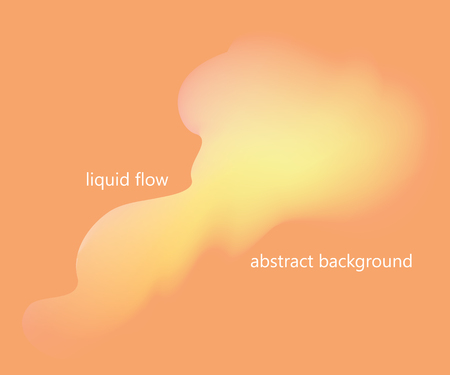 Liquid, flow, fluid vector background. Fluid colors shapes. Design for gift card,cover,poster. Wall poster design. Fluid colorful shapes composition. Eps10. Dynamic futuristic shape in warm orange