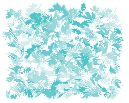 Oil hand drawn brush painting in light blue colors. Watercolor abstract brush painted vector illustration. Brush stokes painting, color splashing. Expressive spray image for wallpapers and postcards.