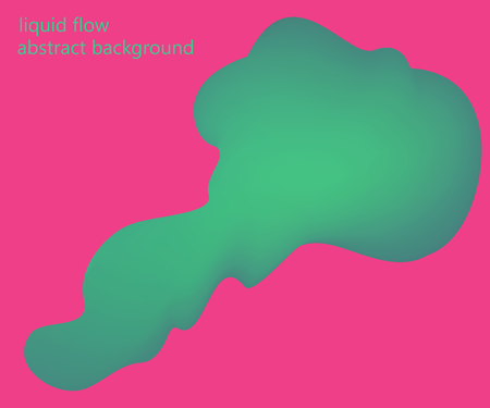 Liquid, flow, fluid vector background. Fluid colors shapes. Design for gift card,cover,poster. Wall poster design. Fluid colorful shapes composition. Eps10. Dynamic futuristic shape in green and pink Ilustração