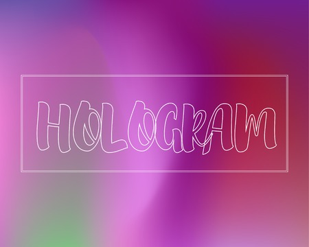 Neon Violet Gradient Background. Mesh Wavy Colorful Template. Magenta Hologram Backdrop. Colorful Waved Fluid Texture, Ultraviolet Original Cover Vector Design Illustration