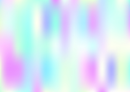 Funky Hologram Gradient Vector Background.Blurred Rainbow Colors Mesh Texture.Fairy Tale Magic Vector Design. Blur Pinky Turquoise Violet Yellow Shiny Gradient. Holographic Fluid Stains Vector Design Vetores