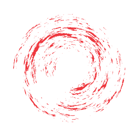 Red Brush Stroke Enso Symbol Vector Design. Painting Enso Zen Circle Brush Vector Illustration