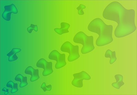 Original Dynamic Liquid Shapes Vector Background. Vertebrae Shape Another Form of Life Stylish Vector Design for Covers, Wallpapers, Prints. Jellyfish Fluid Forms in Shiny Green and Yellow Gradient