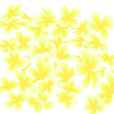 Gentle Yellow Flowers Confetti Background. Spring Magnolia Pattern. Abstract Floral Wallpapers.