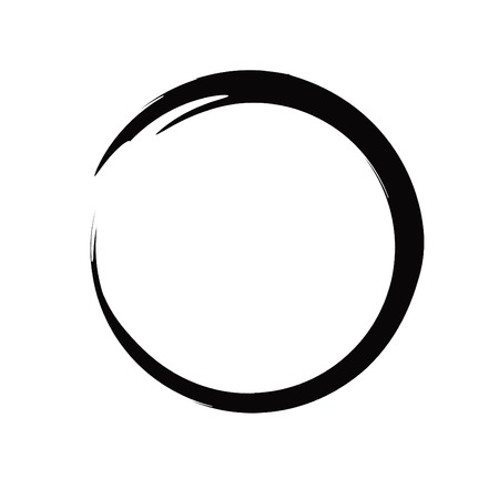 Brush Painting Enso Zen Circle Vector Illustration