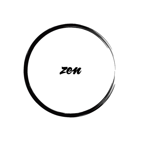 Brush Painting Enso Zen Circle Vector Illustration Illustration