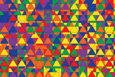 Stylish Triangles Pattern Vector Illustration. Pop Art Casual Geometric Ornament. Triangular Pattern for Covers, Wallpapers, Fabric, Textile etc.