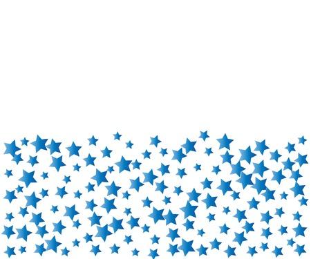Sky Blue Stars Confetti Banner