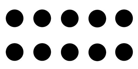 Ten Similar Black Circles Conceptual Vector Design