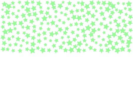 Mint Stars Banner. Stellar Confetti Vector Background. Light Green Flying Stars Confetti Pattern