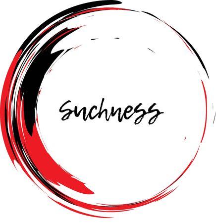 Painting Enso Zen Symbol. Stroke Round Shape. Zen Enso Symbol. Brush Drawn Buddhist Sign.