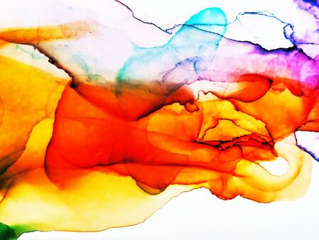 Alcohol Ink Holi Print. Alcohol Ink Texture. Bright Marble Style Texture. Wall Paint Graffiti. Iridescent Clouds Macro. Watercolor Background Texture. Watercolor Splash.