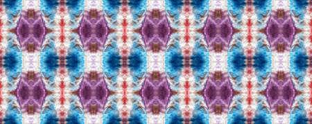 Spring Floral Ikat. Simple Lace Image. Summer Retro Rug. Gentle Violet Seamless  Decorative Art Image. Floral Organic Rug. Delicate Lace Motifs. Bright Boho Rug.