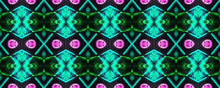 Optical pattern. Kaleidoscope ornament. Tribal print. Original ethnic motif. Hand drawn. Blur watercolor texture. Tile design. Acid, green,blue, pink optical pattern. Geometric wallpapers.