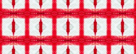 Tie dye pattern. Hand drawn shibori print. Red ink background. Modern batik tile. Indigo geometric ornament. Seamless tie dye pattern. Red and white. Rhombus and square ornament. Simple design Archivio Fotografico