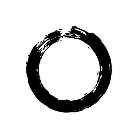 Black enso symbol isolated on transparent. Vector.