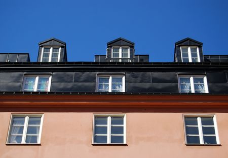 fasade: windows in a row