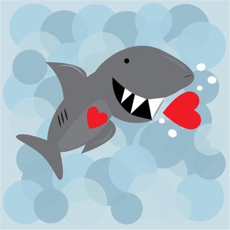 dangerous love: L'amore � pericoloso con questo grande squalo dentato. Aggiungi questo divertente pesce asciugamani o accappatoi per i pi� piccoli bagni.