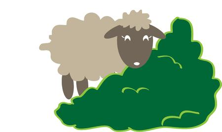 yeanling: This little sheep happily grazes on lush green grass.  This sweetie is a lovely addition to sleepwear.