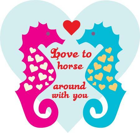 대양의: Seahorses in love are a fun display of oceanic elegance.  They are a stunning embellishment for beach gear or pool side d?cor.
