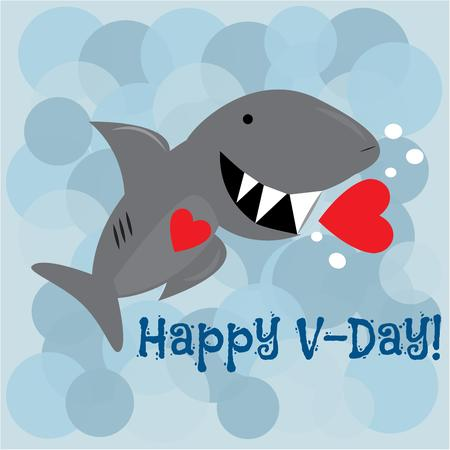 toothed: Love is dangerous with this big toothed shark.  Add this fun fish to create a fun valentine.