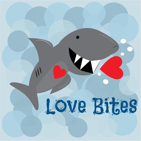 dangerous love: L'amore � pericoloso con questo grande squalo dentato. Aggiungi questo divertente pesce per creare un divertente San Valentino.